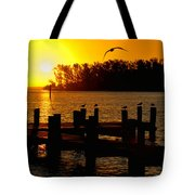 Sunrise At The Boat Launch  Tote Bag