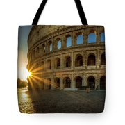 Sunrise At The Colosseum Tote Bag