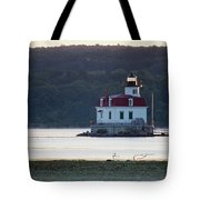 Sunrise At The Esopus Lighthouse Tote Bag