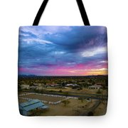 Sunrise At The Horse Barn Tote Bag