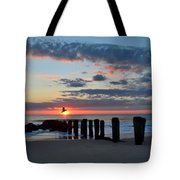 Sunrise At The Jersey Shore Tote Bag
