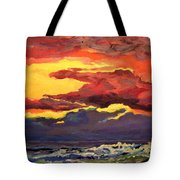 Sunrise At The Jetty 6-23-15 Tote Bag