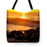 Sunrise At The Jetty Tote Bag