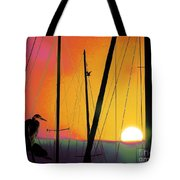 Sunrise At The Marina Tote Bag