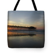Sunrise At The Pier Tote Bag