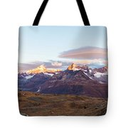 Sunrise At The Swiss Alps Tote Bag