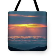 Sunrise At The Top Of The World Tote Bag