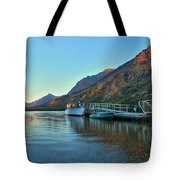Sunrise At The Two Medicine Dock Tote Bag