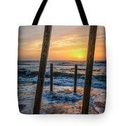 Sunrise Between The Pillars Landscape Photograph Tote Bag