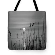 Sunrise Black And White  Tote Bag