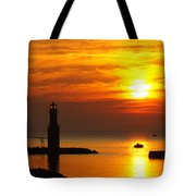 Sunrise Brushstrokes Tote Bag