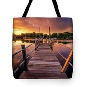 Sunrise By The Ramp Tote Bag