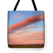 Sunrise Clouds And Barn Tote Bag