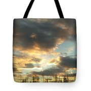 Sunrise Cloudscape Tote Bag
