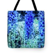 Sunrise Delphiniums Tote Bag