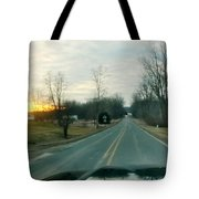 Sunrise Down The Road Tote Bag
