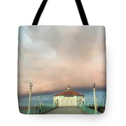 Sunrise Drama - Manhattan Beach Pier Tote Bag