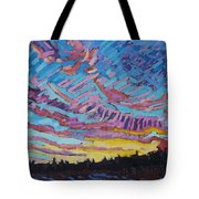 Sunrise Freezing Rain Deformation Zone Tote Bag by Phil Chadwick