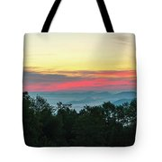Sunrise From Maggie Valley August 16 2015 Tote Bag