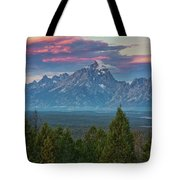 Sunrise From Signal Mountain Tote Bag