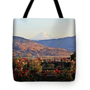 Sunrise From The Rose Garden Tote Bag