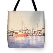 Sunrise Harbor Tote Bag