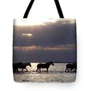 Sunrise Horses Tote Bag