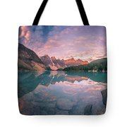 Sunrise Hour At Banff Tote Bag