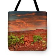 Sunrise In Capitol Reef National Park Utah Tote Bag