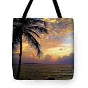 Sunrise In Fajardo, Puerto Rico Tote Bag