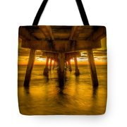 Sunrise In Ft Lauderdale Pier Tote Bag