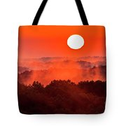 Sunrise In Hocking State Forest Tote Bag
