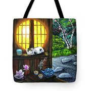 Sunrise In Moon Window Tote Bag
