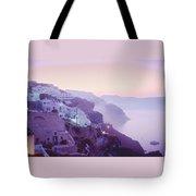 Sunrise In Oia Tote Bag