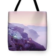 Sunrise In Oia Tote Bag