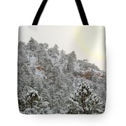 Sunrise In Snowstorm In The Pike National Forest Tote Bag