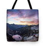 Sunrise Into The Lake Tote Bag