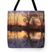 Sunrise Lake Reflections Tote Bag