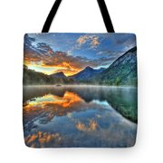 Sunrise Lake Tote Bag