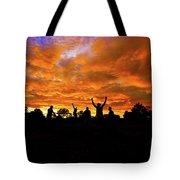 Sunrise Landscape In Tanzania Tote Bag