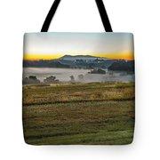 Sunrise Landscape Over Morganton Town In  North Carolina  Tote Bag