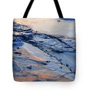 Sunrise Light On The Ice  Tote Bag