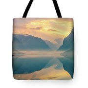 Sunrise Lovatnet, Norway Tote Bag