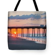 Sunrise Ocean City Fishing Pier Tote Bag