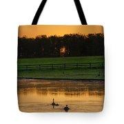 Sunrise On A Gettysburg Duck Pond Tote Bag