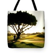 Sunrise On A Golf Course Tote Bag