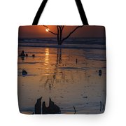 Sunrise On Boneyard Beach Tote Bag