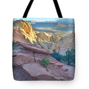 Sunrise On Burr Trail Switchbacks Tote Bag