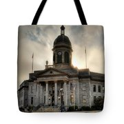 Sunrise On Cherokee County Courthouse Tote Bag