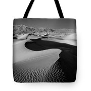 2a6856-bw-sunrise On Death Valley  Tote Bag